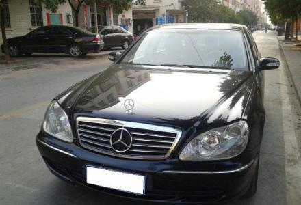 出售美规05年奔驰S500黑色黄笼