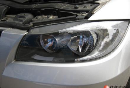 宝马3系升级改灯天使眼13317830918双光透镜氙气大灯