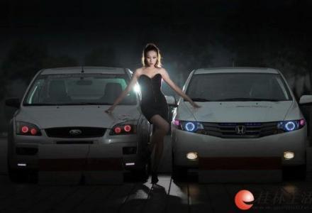 桂林专业大灯改装,专业大灯升级,天使眼,改灯13317830918进口双光透镜