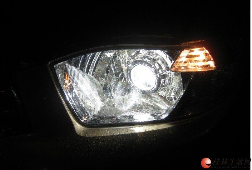 丰田汉兰达改灯13317830918博世双光透镜桂林专业改灯升级灯光