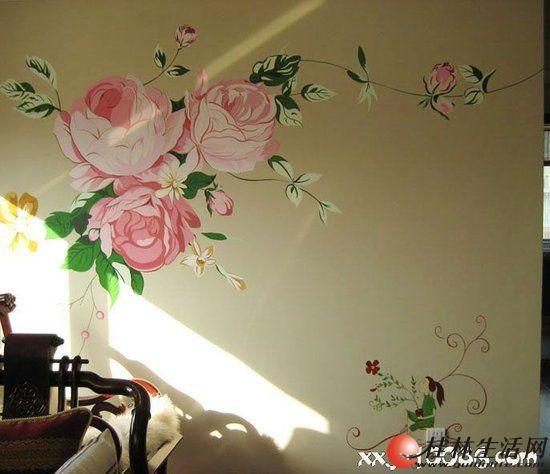 【艺景坊墙体手绘】家庭手绘背景墙 大型壁画 雕塑