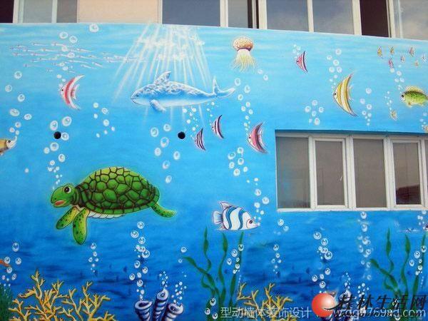 桂林专业幼儿园彩绘喷画
