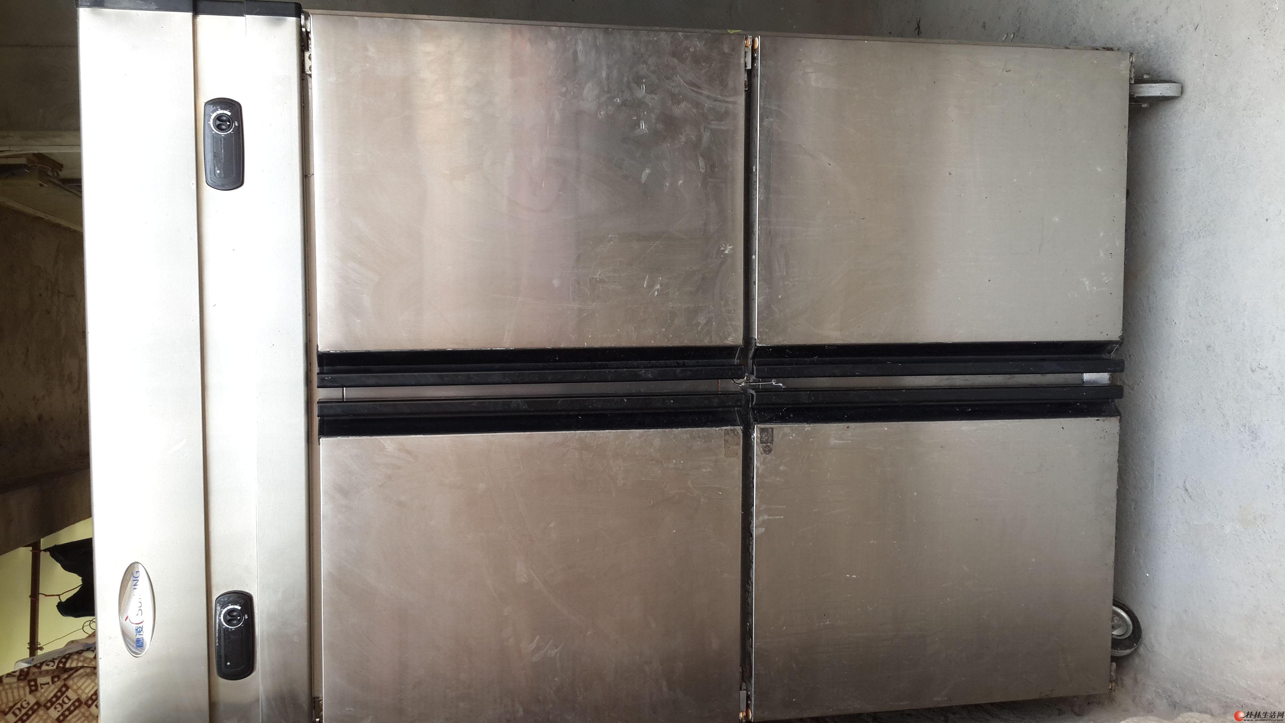 出售以前开店自用穗凌四门冷藏冷冻冰柜
