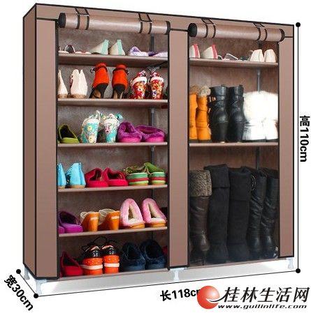 超大实木布衣柜,双门大鞋架