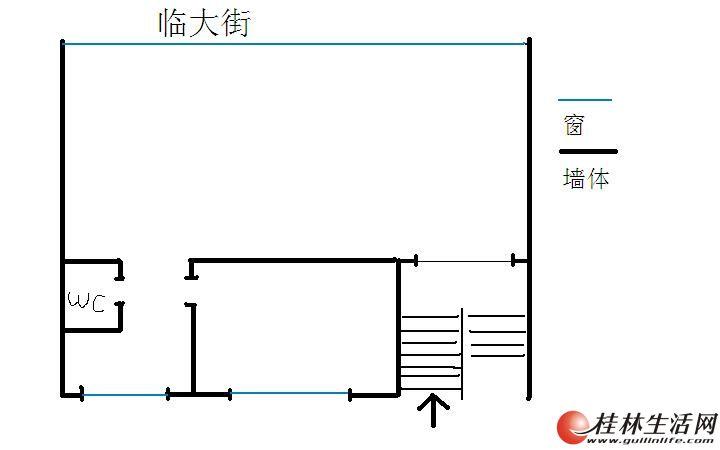 【八里街2楼100平米框架结构出租】可做办公室,培训室