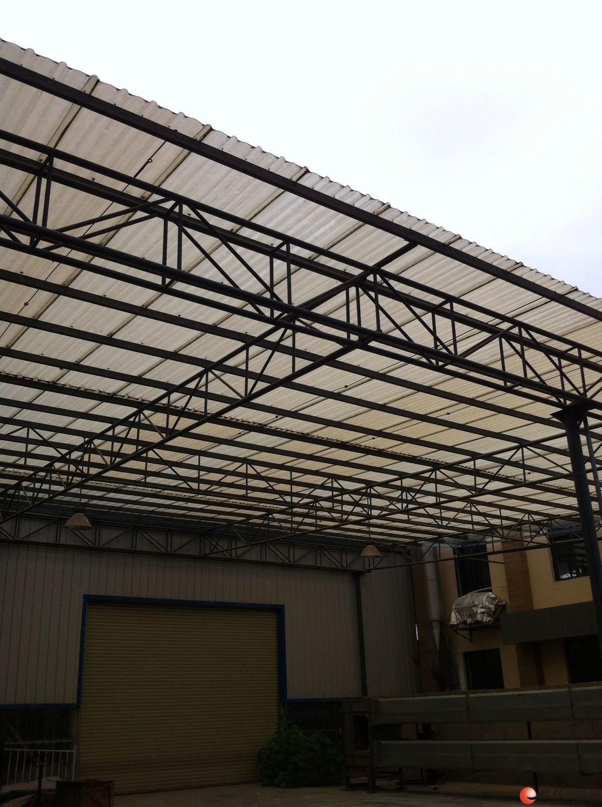 专业制作钢架结构楼面雨棚,停车棚,玻璃棚,彩钢瓦厂房