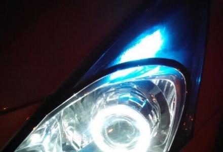 现代瑞纳升级海拉五双光透镜、赠宝LED光导天使眼