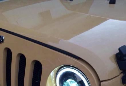 桂林牧马人大灯改装升级天使眼双光透镜氙气灯桂林专业改灯升级灯光