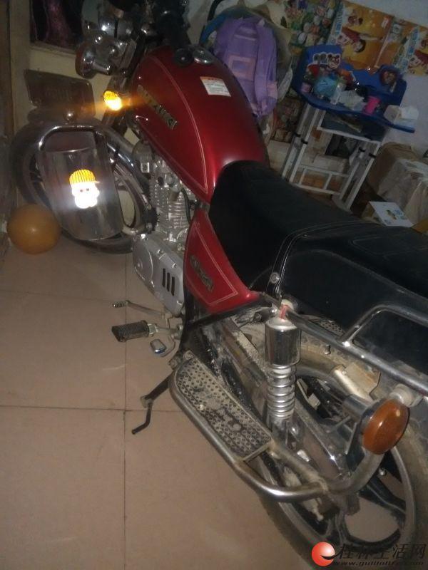 人出售一部闲置豪爵太子摩托车