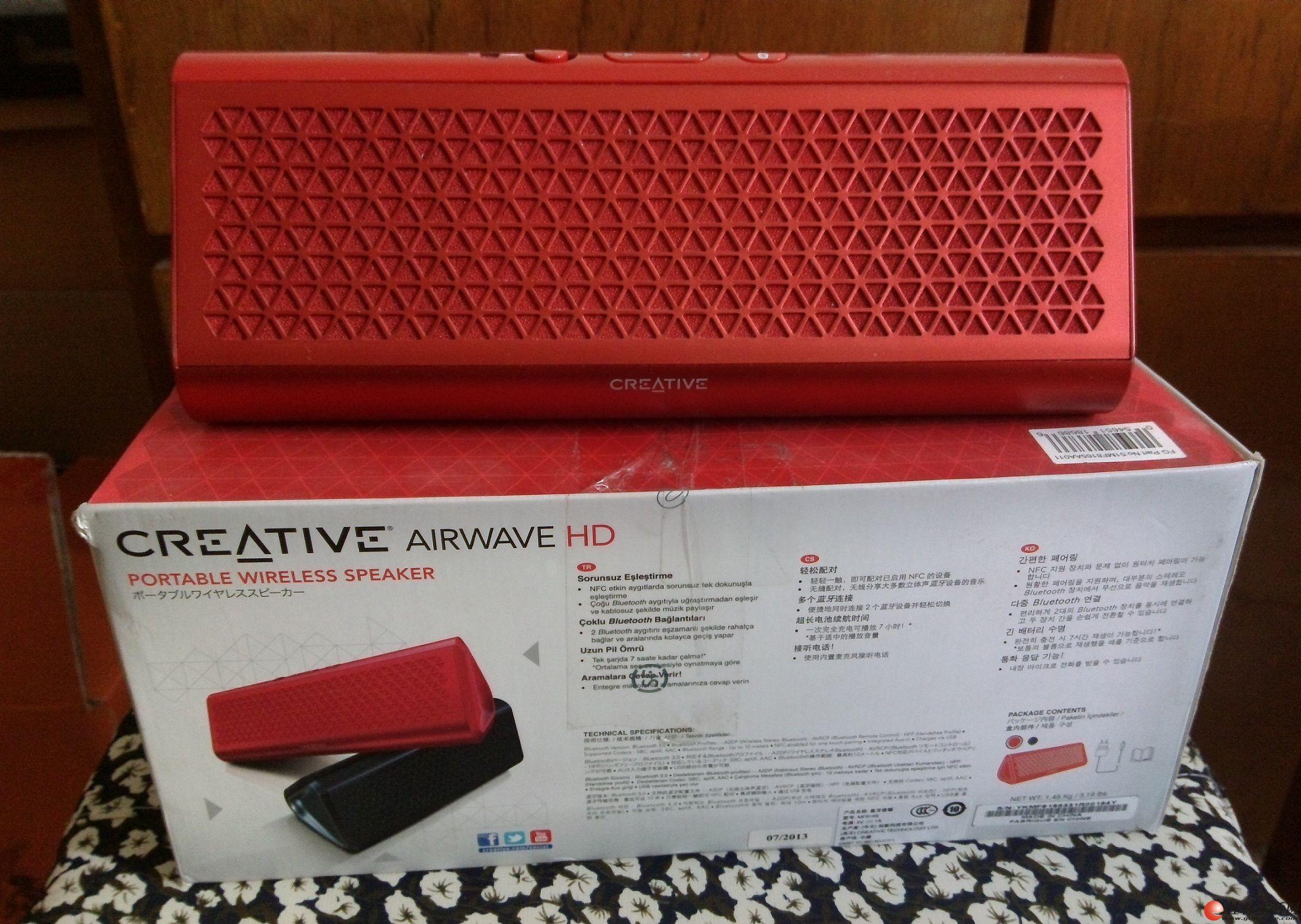 创新(Creative) Airwave HD 蓝牙无线音箱 红色