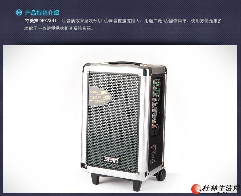 特美声品牌高级户外便携式音箱