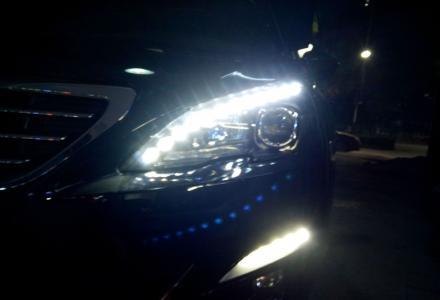新408升级LED大泪眼灯总成立马变高大尚——善待爱车改灯