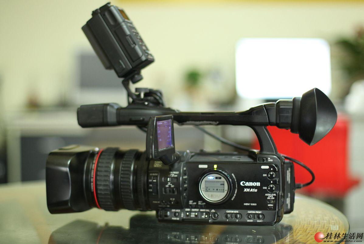 低价处理闲置佳能专业摄像机一台