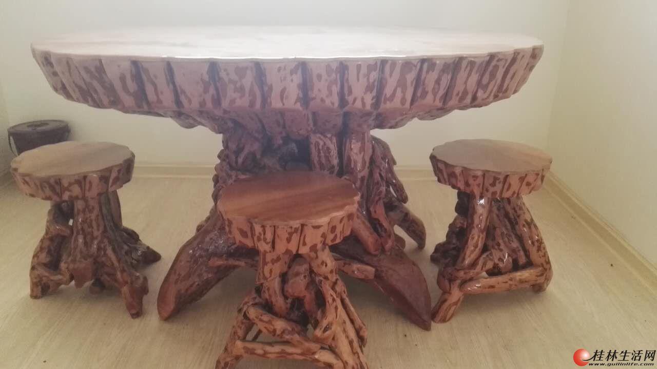 闲置的树根根艺根雕茶几茶桌香樟木茶几樟木桌实木功夫茶几根雕茶台