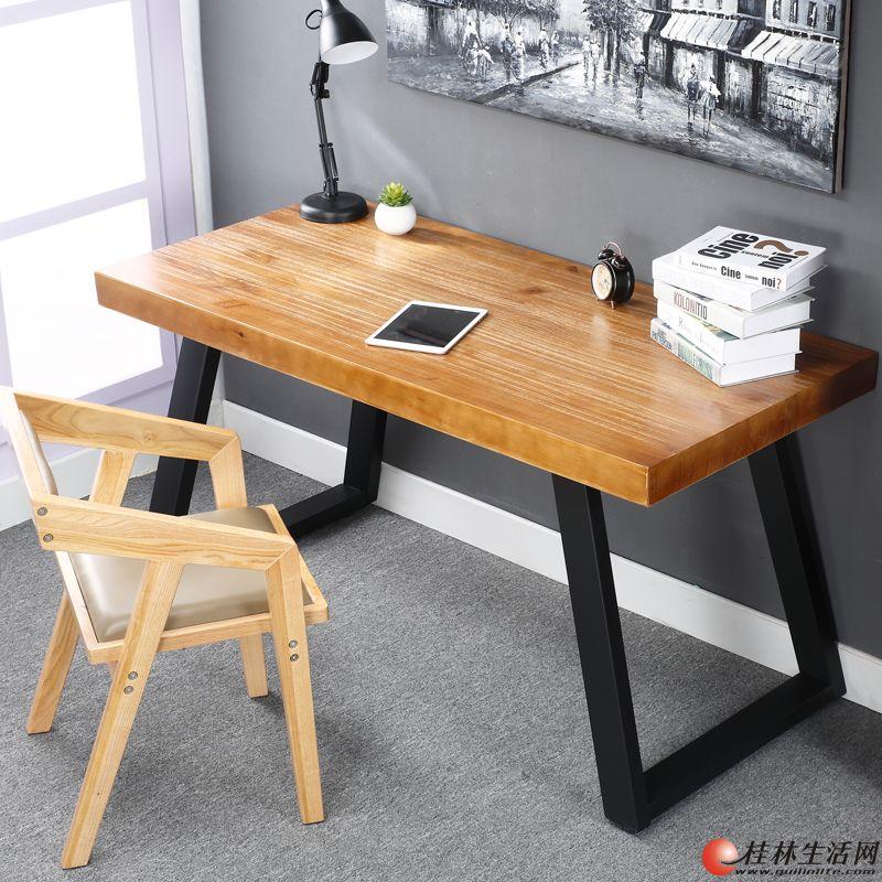 铁艺实木办公桌.书桌.餐桌.电脑桌