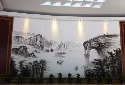 承接纯手绘墙绘、壁画、宣纸国画13517730408