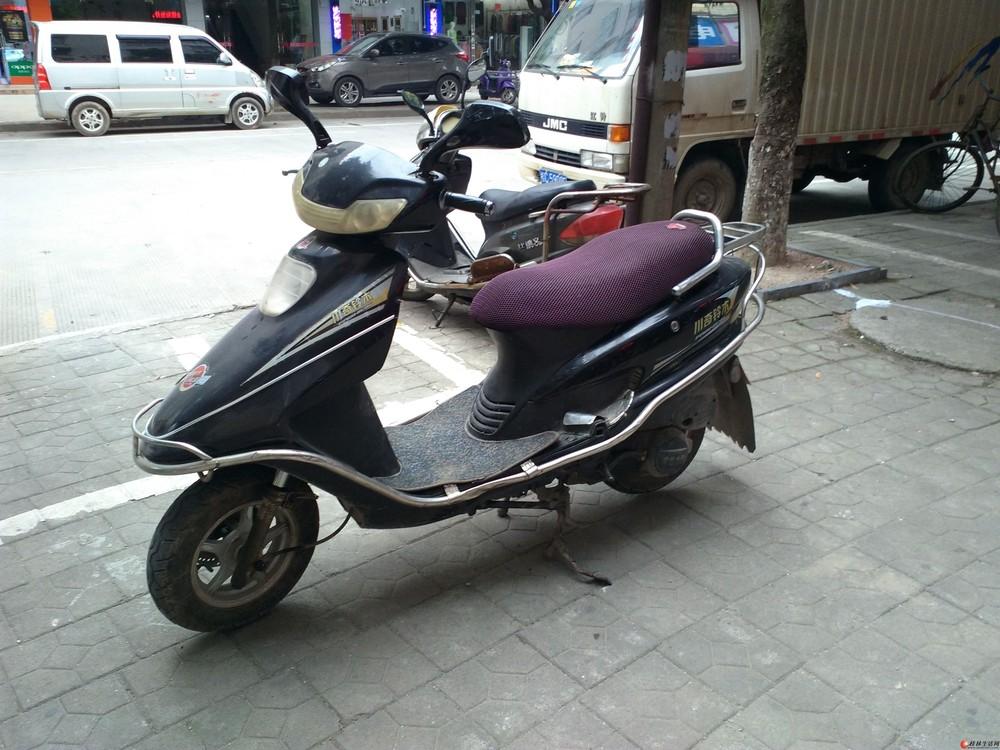 本人有一辆川奇铃木125cc