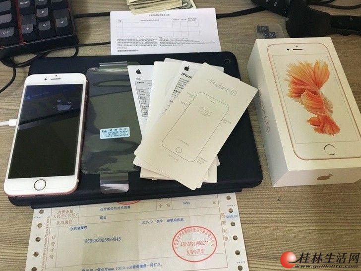 出台自用国行苹果6S 64G 玫瑰金9新