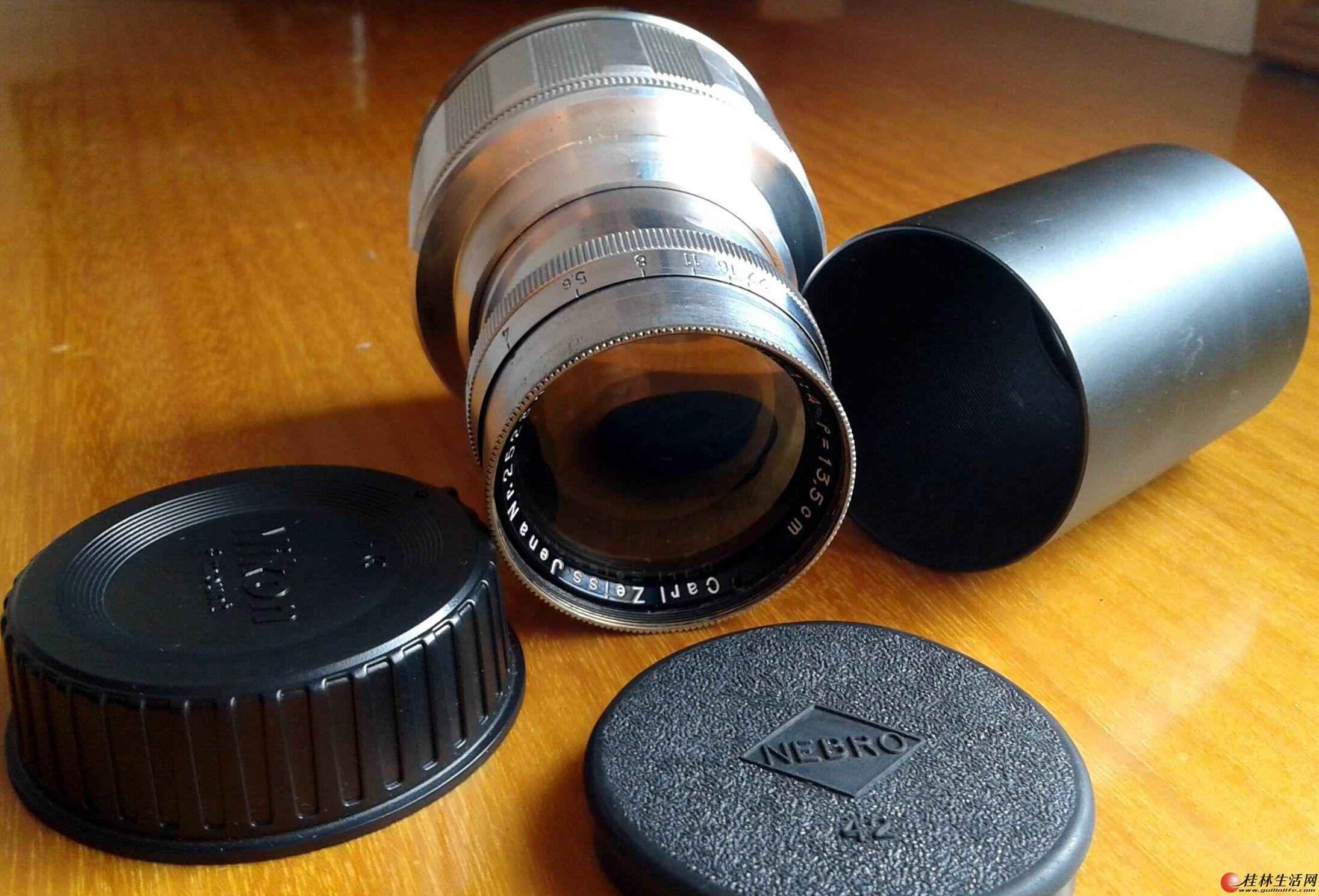 德国早期纯铜蔡司13.5cm/4,乐摄宝500AW双肩防盗摄影包