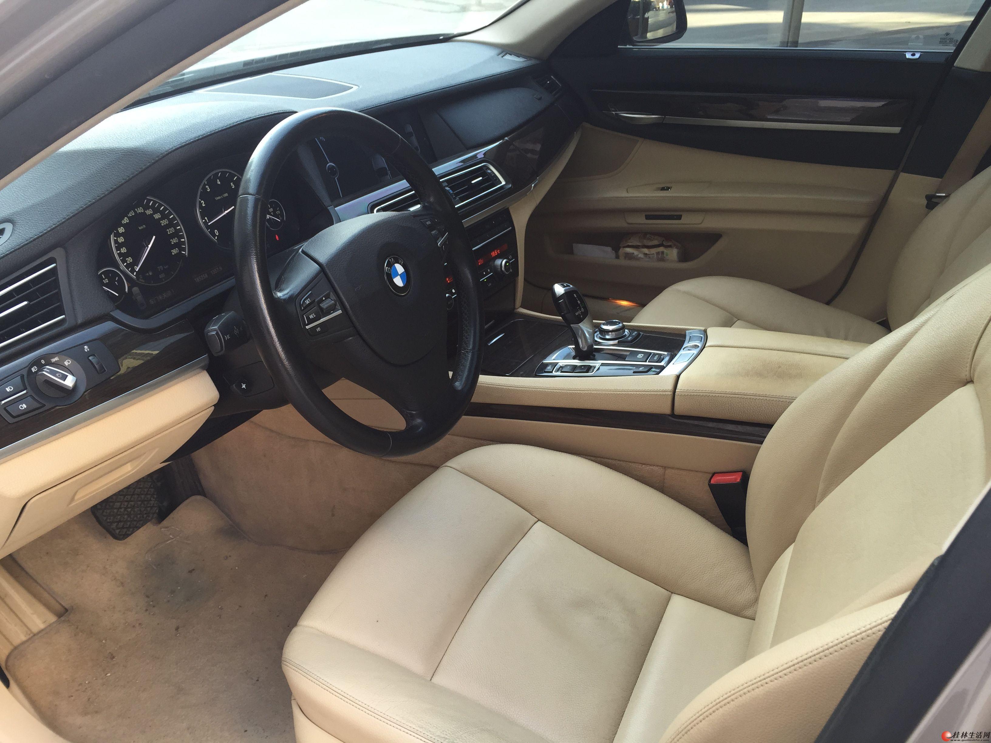 2010年宝马7系730,4门5座,3.0L自然吸气,无钥匙进入启动,空气悬挂等豪华配置转让