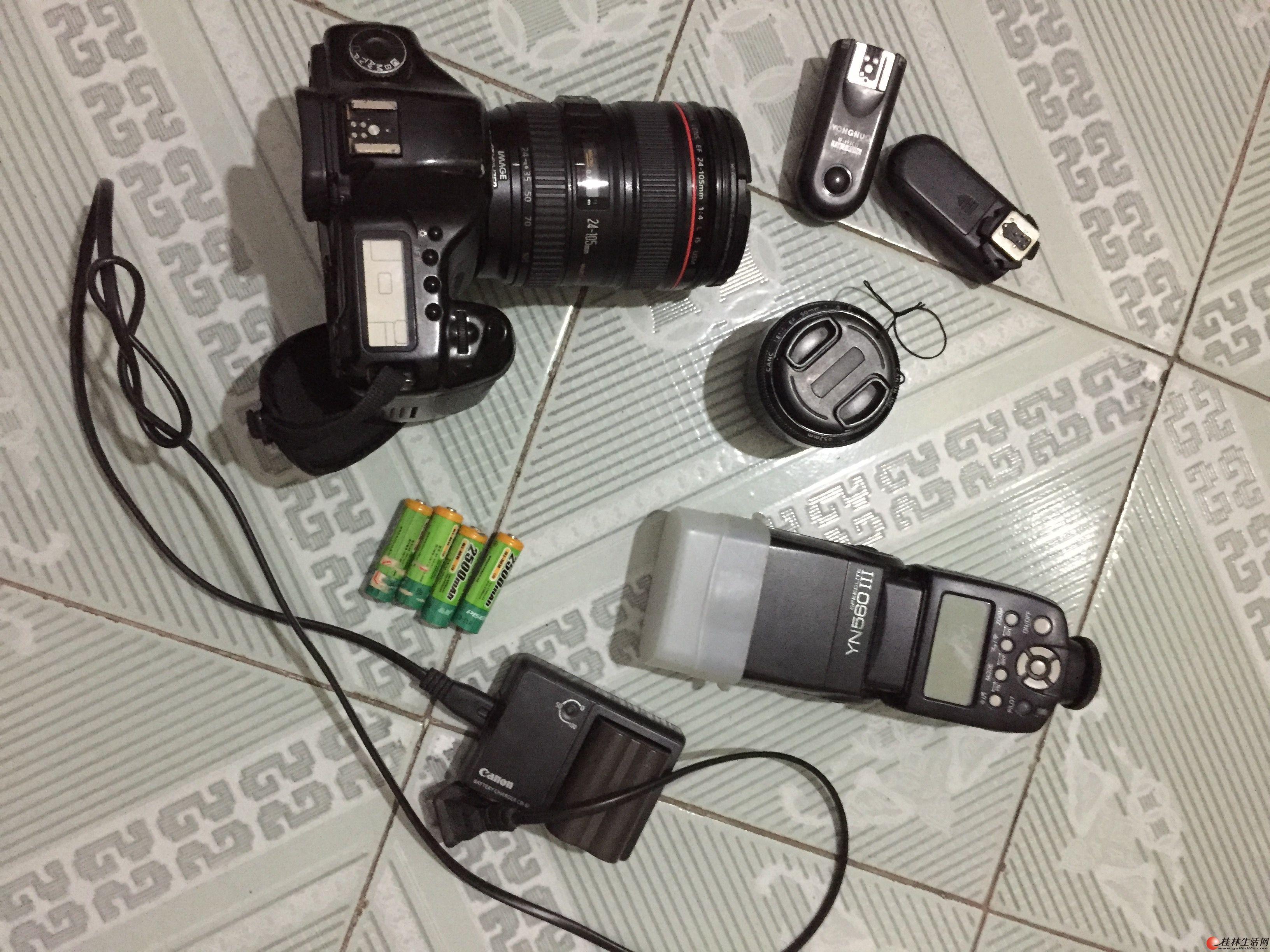 灭门 佳能5d  红圈24-105mm 4L 50mm小痰盂 永诺560三代闪光灯+两个引闪器 送充电池
