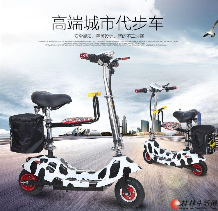 迷你电动车小海豚电动滑板车折叠电瓶车成人两轮电动自行
