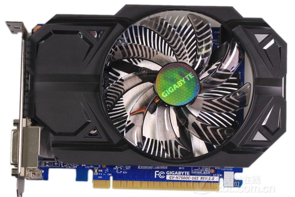 技嘉GTX750 1GD5 2GD5,本地保修到2018年,超级新!
