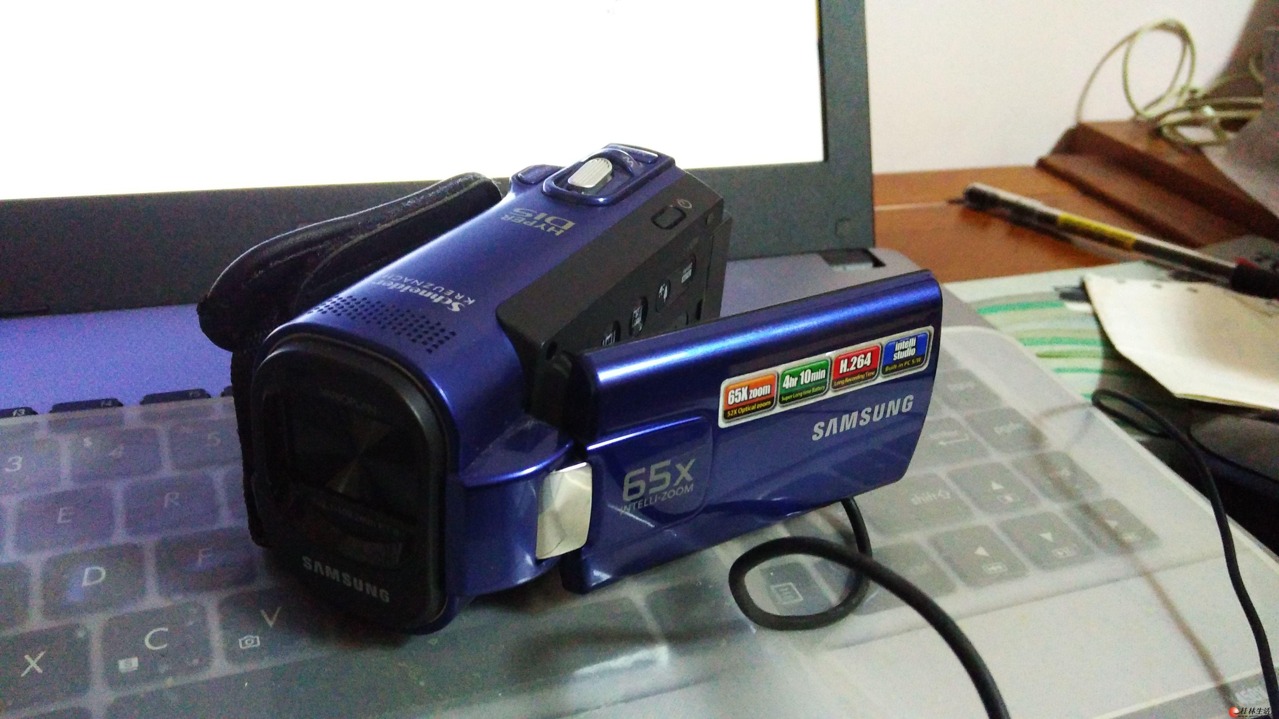 三星SMX-F40摄像机,配件全