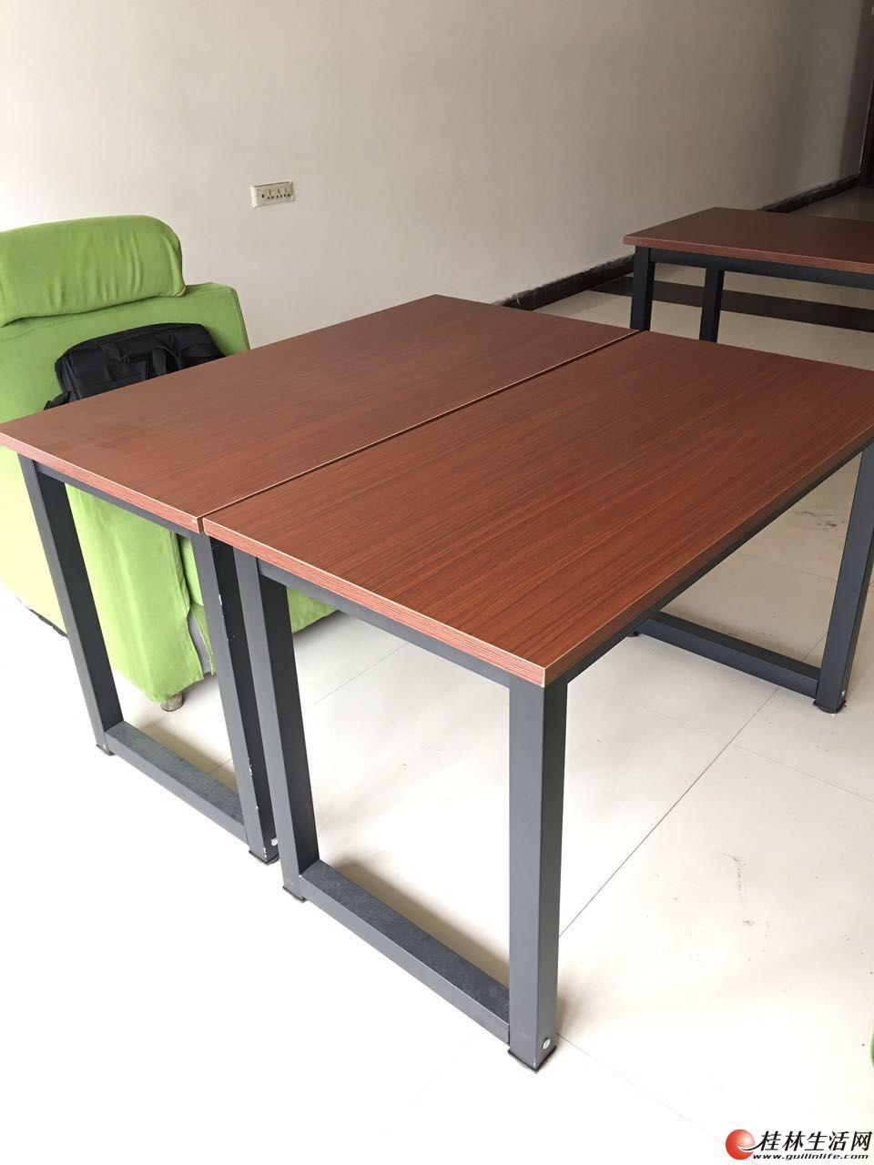 简约现代办公桌电脑桌书桌会议桌餐桌钢木桌