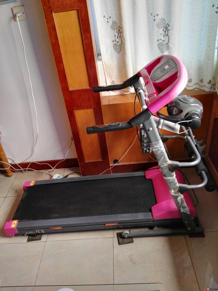漂亮精致小巧的女式家用跑步机,全电脑版带电动按摩器,适合爱美的女士健身
