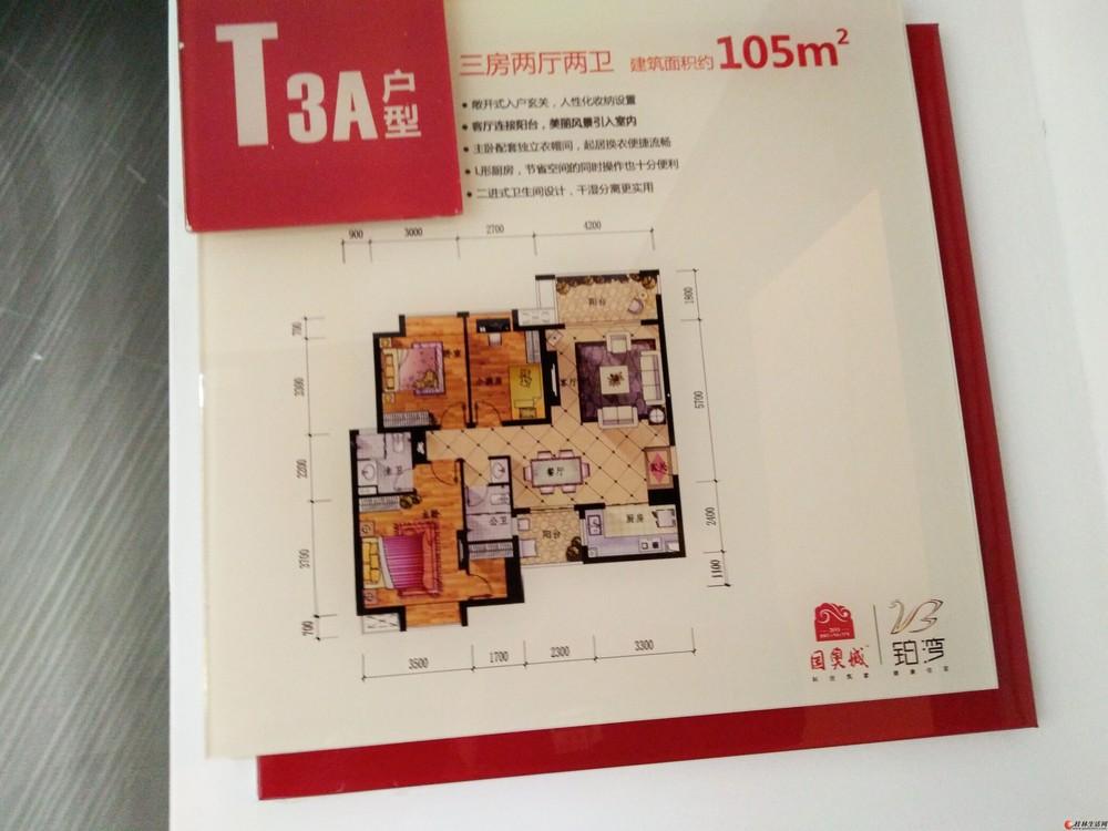 Q漓江边【国奥城】团购特价房 3房2厅2卫 60万  漓江边,清水板楼,南北对通。精装房