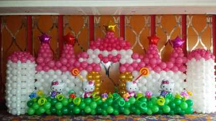 桂林气球装饰、生日宴、百日宴、婚礼、满月酒气球布置