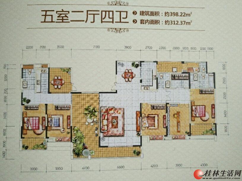 临桂新城国奥小区(即公务员小区)400平米大平层带车位出租,适合办公,非中介