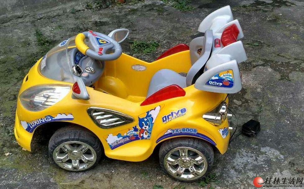 转让9成新小孩电瓶小童车
