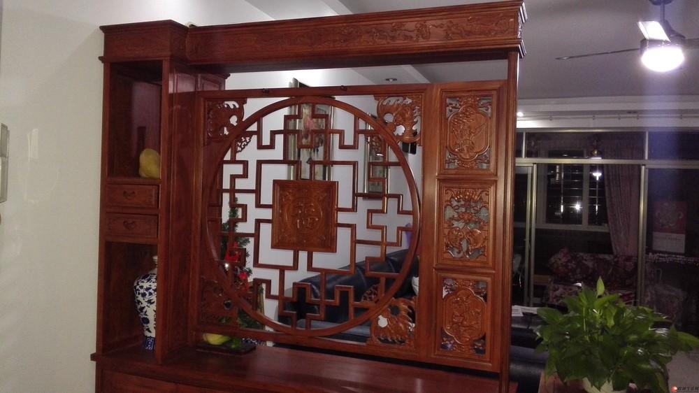 非洲刺猬紫檀 实木红木 玄关柜子