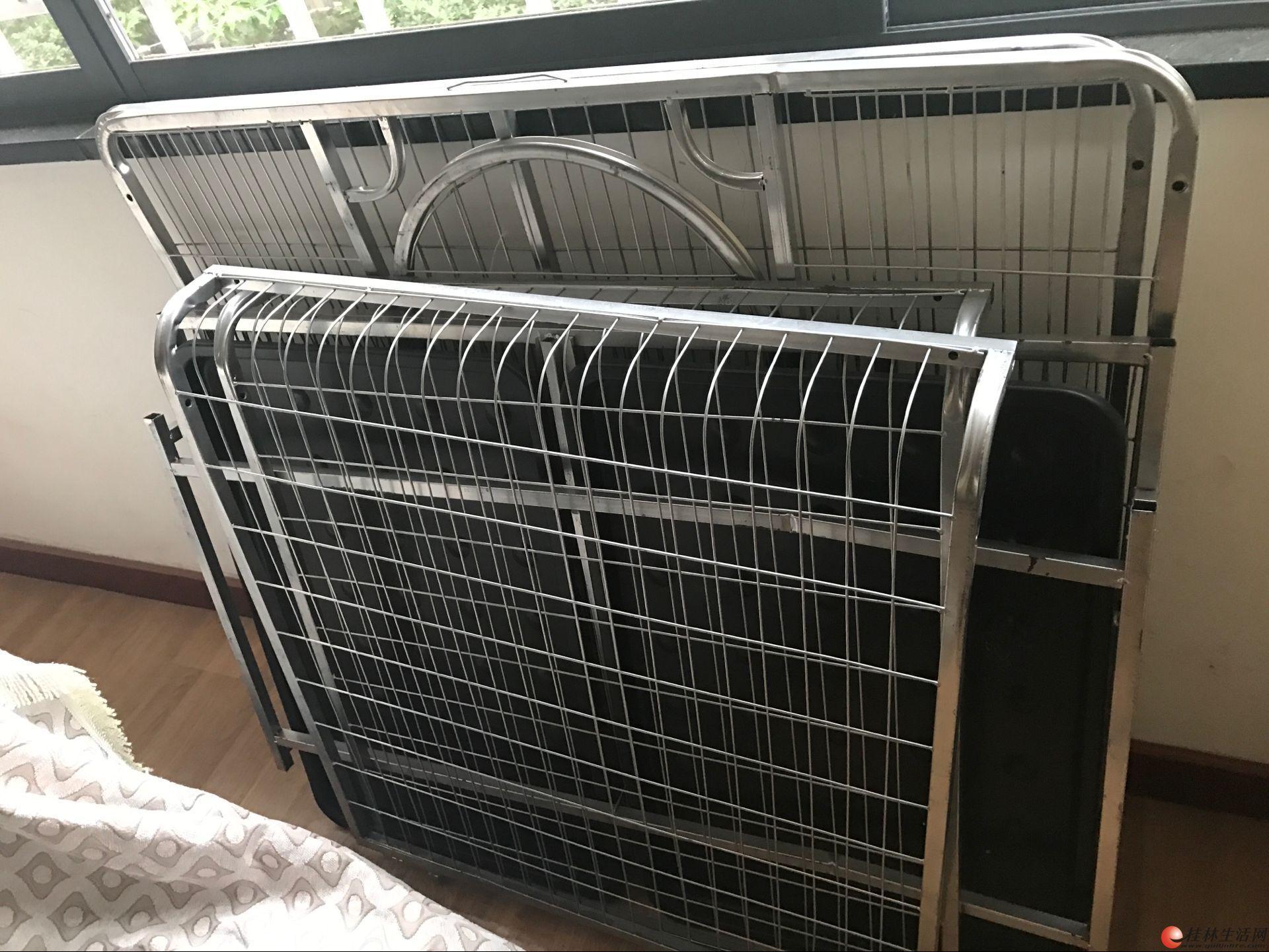 120x100x90不锈钢加强狗笼,买回来就装过一次!笼子养2条150斤阿拉斯加不是问题!