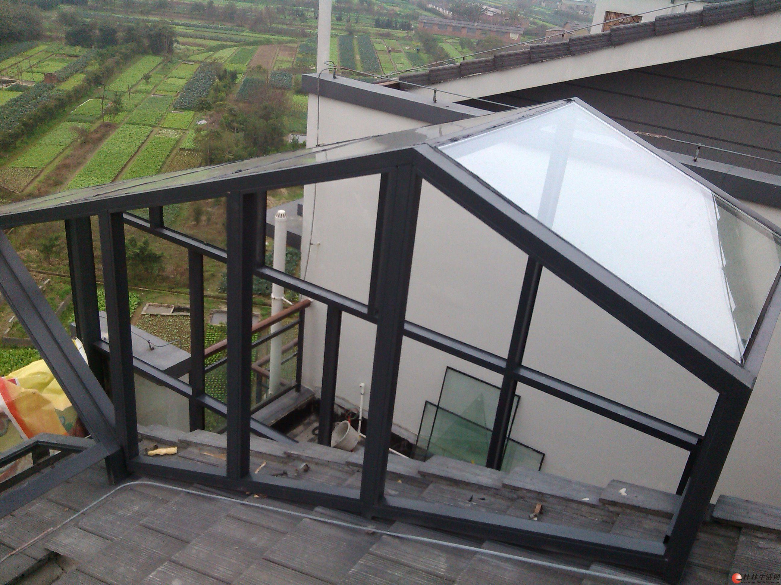 专业搭钢架阁楼、楼梯、玻璃房(阳光房)