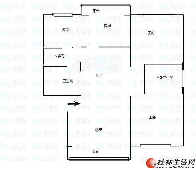 三里店【奇峰小筑】3室2厅2卫 107㎡ 买一层送一层48万 一梯两户 南北通透