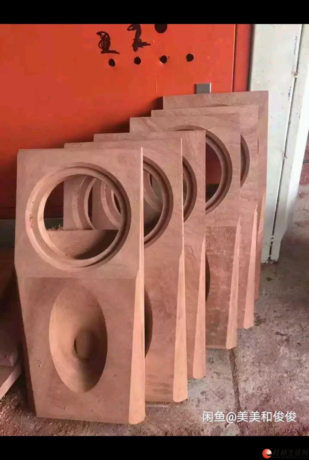 HiFi艺术品红木限量珍藏版同轴5.25寸音箱。 红木,原木,千年如新。原木天然的木纹。