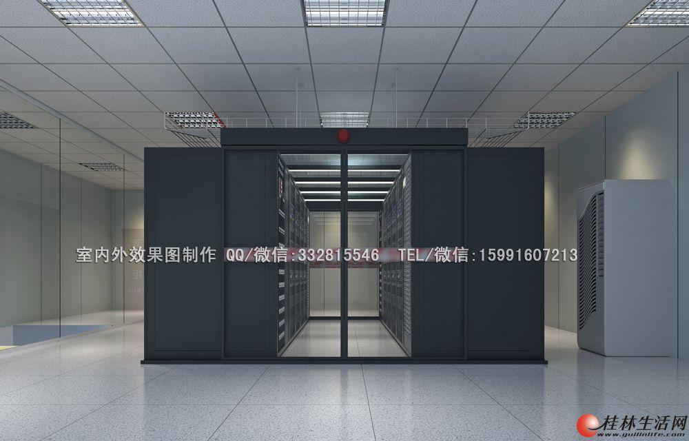 电梯效果图制作|机房|拼接屏效果图