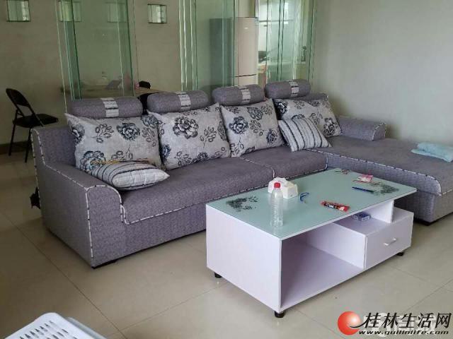 首次出租 全新家具,居住或办公 枫丹丽苑上海路电梯12楼3房2厅130平方精装修2600元月
