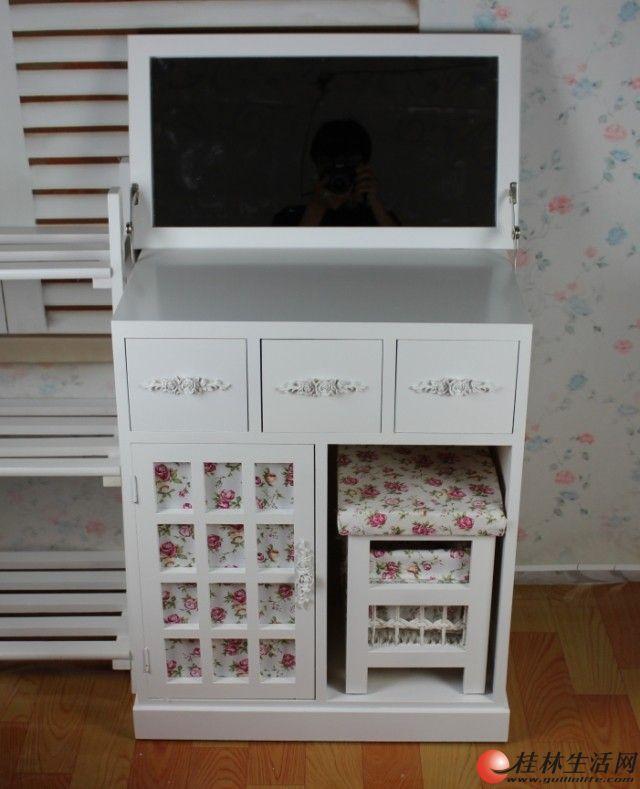 家具店转让,全新外贸出口欧式家具实木化妆台含化妆凳