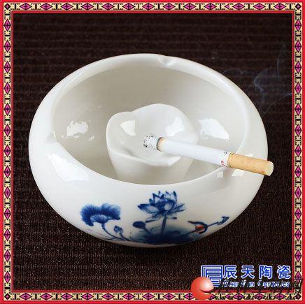 时尚陶瓷烟灰缸创意办公室茶几客厅大号个性复古欧式简约摆件烟缸