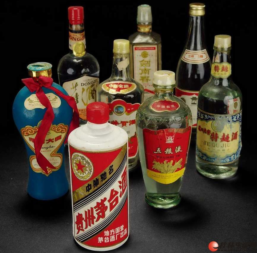 桂林回收1982年茅台酒83年五粮液84年董酒85年剑南春86年郎酒老酒