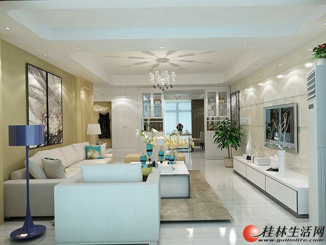 桂林房子装修效果图-花样年华-116㎡现代简约风格