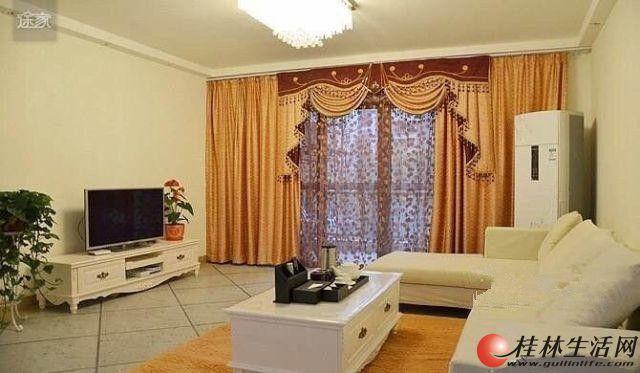出租,甲天下三里店大圆盘明珠花园豪装3房2厅3300元,超大豪华客厅。高住宅小区,