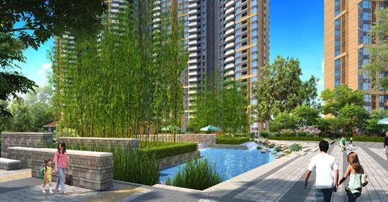 山水凤凰城中央小区三房两厅两卫,南北通透,超宽楼间距,采光好