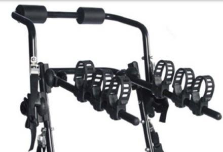全新的车载高碳钢单车挂架不挡号牌可挂三部