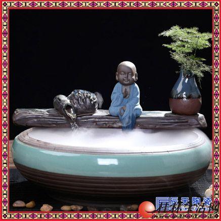 家装饰品摆件办公室客厅桌面个性 流水喷泉简约现代风水轮