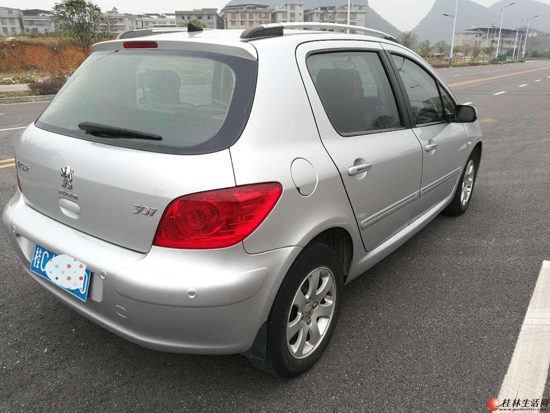 桂林一手标致307两厢自动档私家车